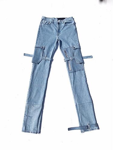 Blue Bondage Pants