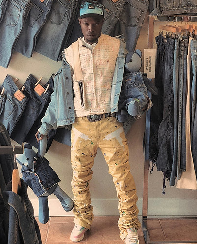 Yellow Uzi Denim