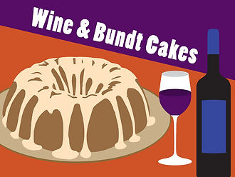 Wine and Bundt cake event icon