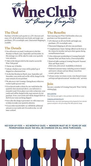 wine club information flyer