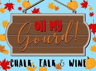 fall chalk-talk-wine event icon