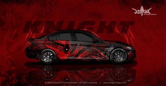 BMW E90 Deadpool Concept