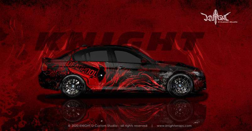 BMW E90 Deadpool Concept