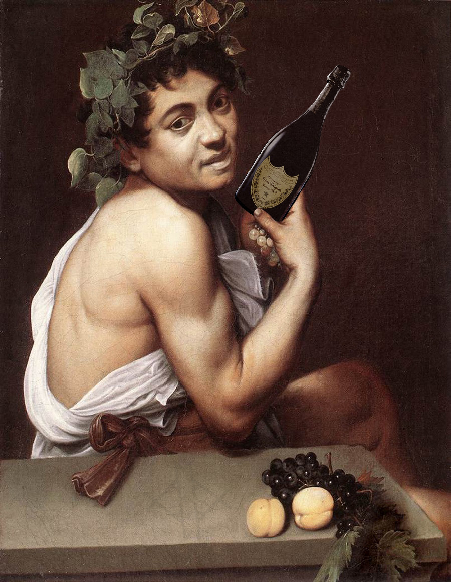 Bacco in love with Dom Perignon