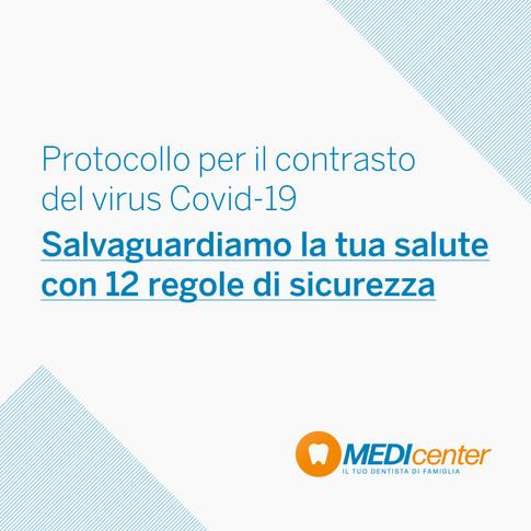 Medicenter: ecco il nostro protocollo di sicurezza