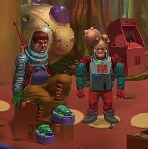 Paradigm visiting space cadet.