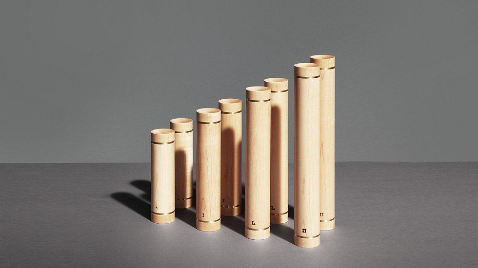 Wooden dumbbells by kenko sports equipment, Set of 8