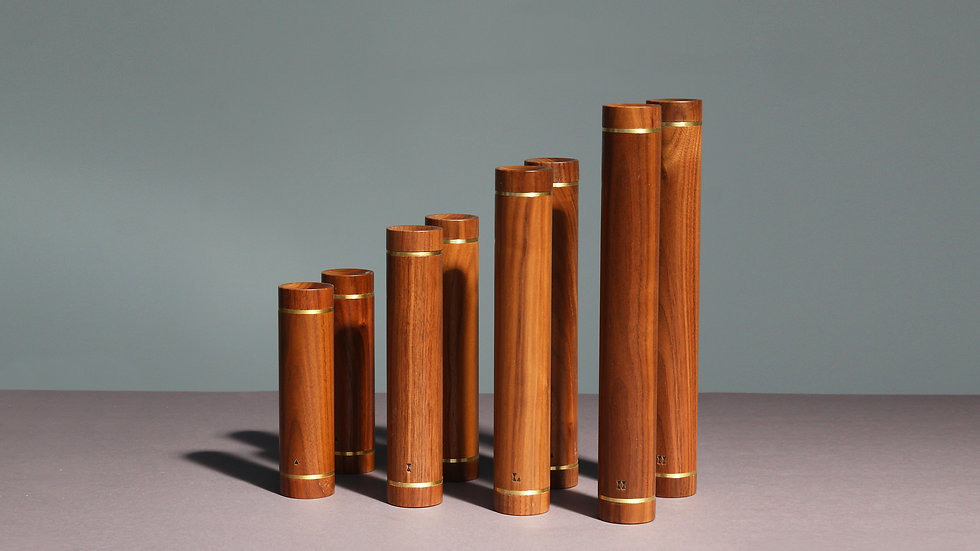 DUMBBELL SET OF EIGHT - WALNUT