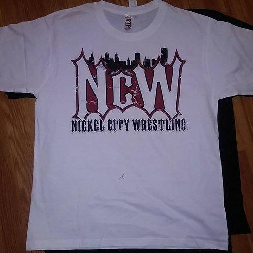 Nickel City Wrestling White Shirt