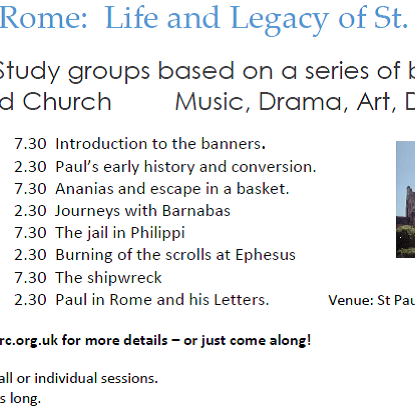 Damascus to Rome - the Life and Legacy of St Paul - session 1
