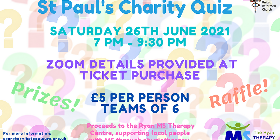 Charity Quiz time