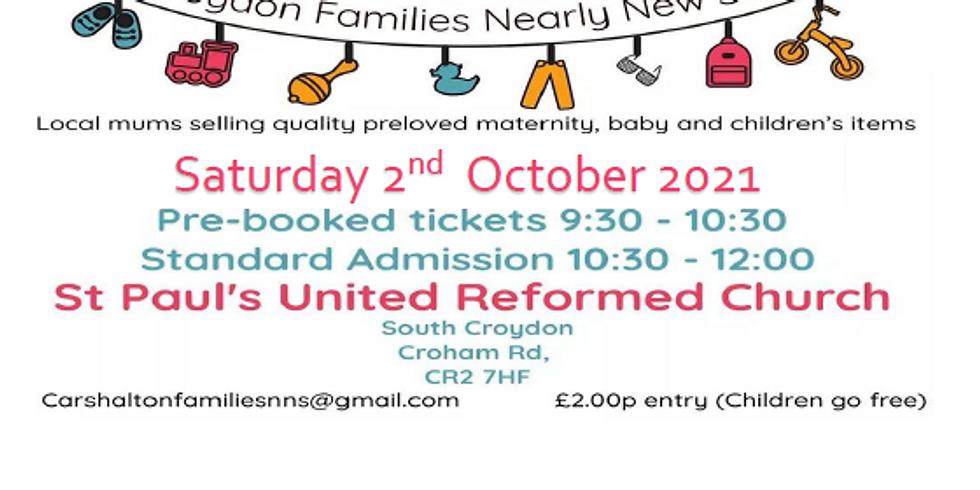 Nearly New Sale - Croydon Families