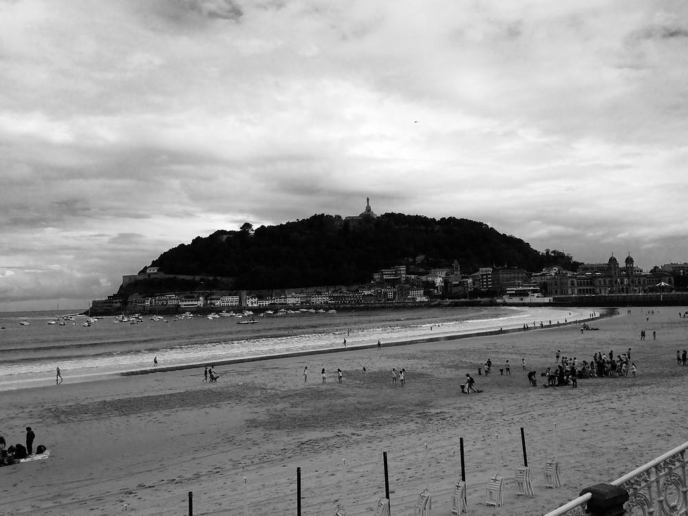 Vista de la bahía de La Concha en San Sebastián