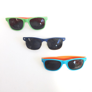 Sunglasses are a great addition to any merch offerings, and boast a solid profit margin.  Minimum orders start at 300 pair