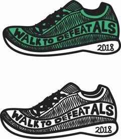 ALS walk t-shirt design