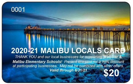 Malibu Locals Discount Card
