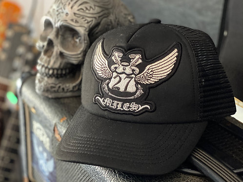 27MILES- Trucker Hat - Mid Profile - Small Skull - Kids/Ladies