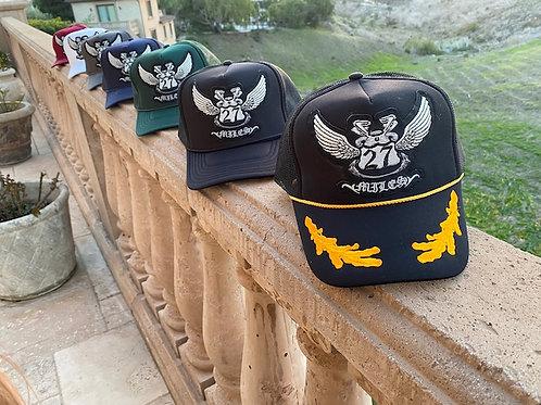 27MILES- OG Trucker Hat - High Profile - Large Skulls