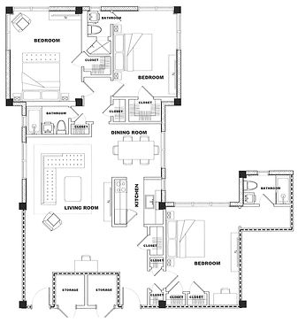 Ambassador 3 Bed. 3 Bath 1618 sqft - San