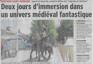 """Château de Menthon-Saint-Bernard, article dans """"le dauphiné libéré"""""""