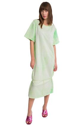 TIE-DYE MAXI DRESS MINT-GREEN