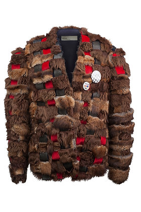 INTERTWINED UPCYCLED FUR DEMI COAT