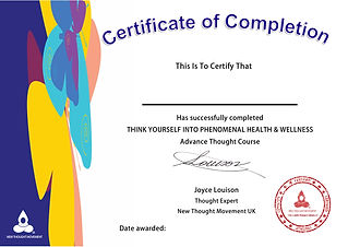 certificate of completion Health & Welln