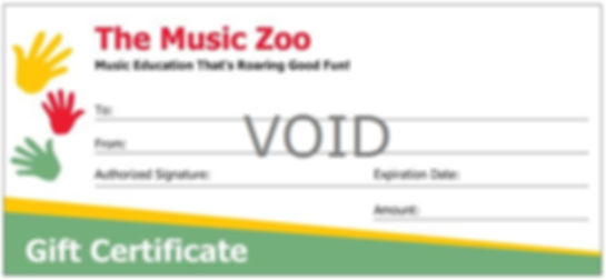 The Music Zoo Gift Certificate