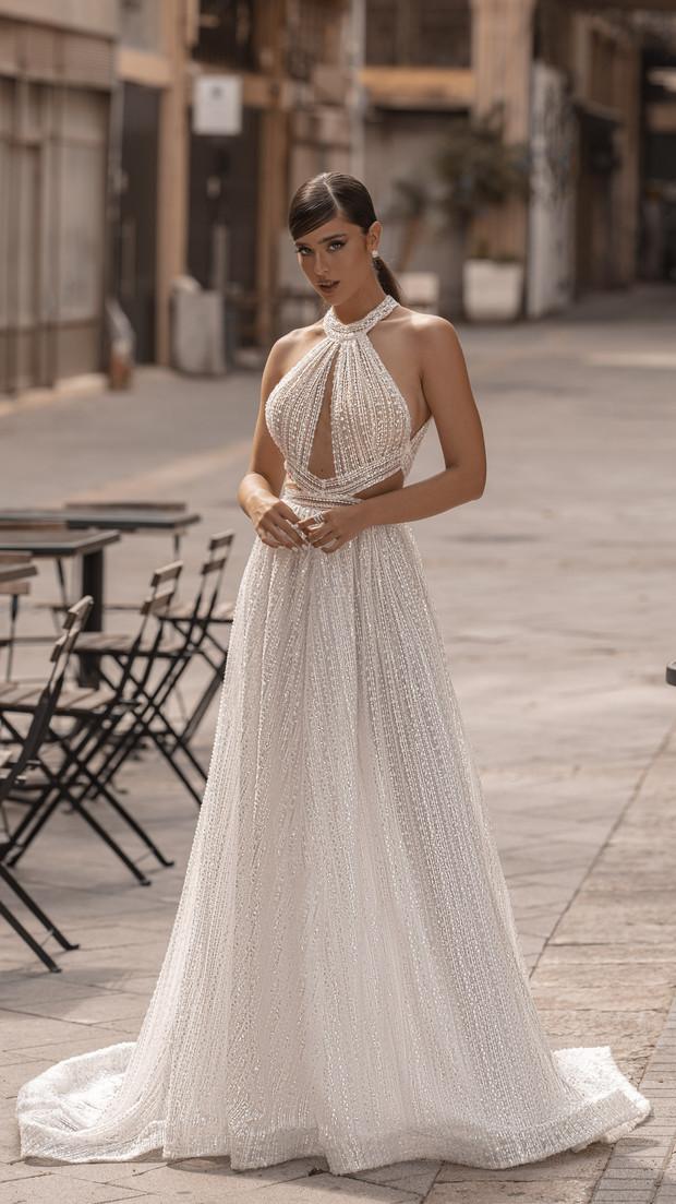 שמלת ערב ארוכה ללא שרוולים חנין קוטור