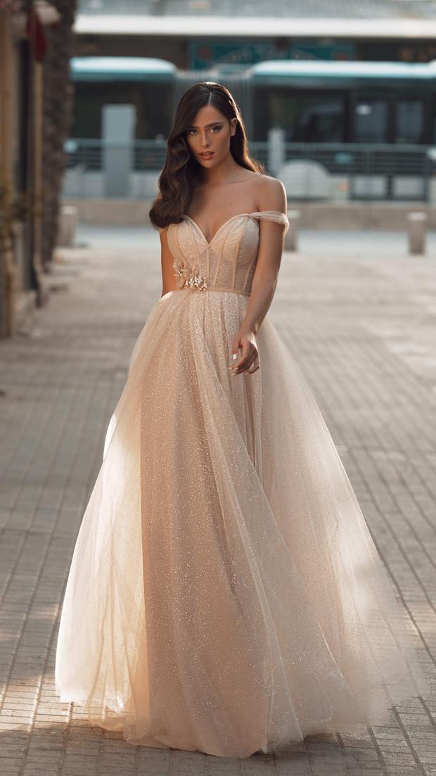שמלת ערב ארוכה קולקציית 2020 חנין קוטור