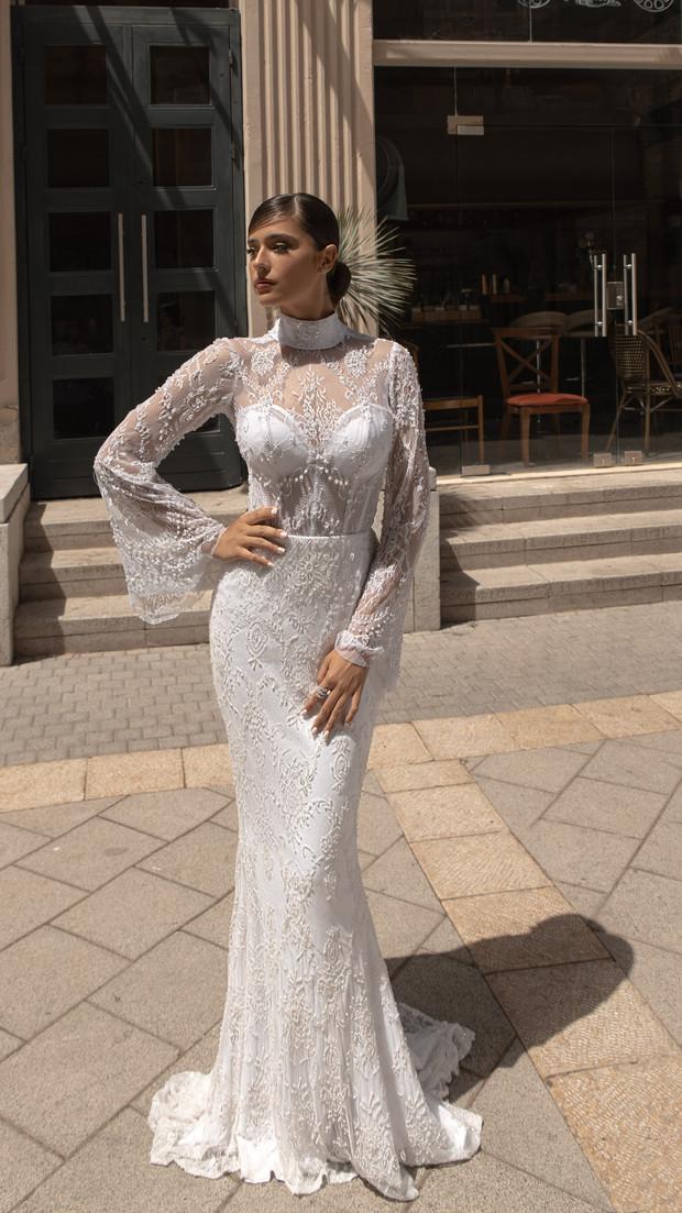 שמלת כלה צנועה חנין קוטור 2020