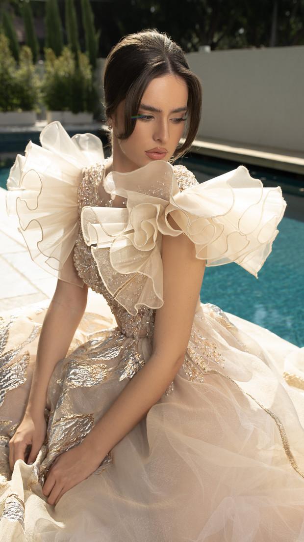 שמלת ערב שקופה חנין קוטור