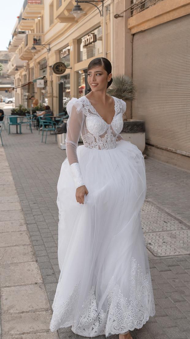 שמלת כלה לבנה חנין קוטור