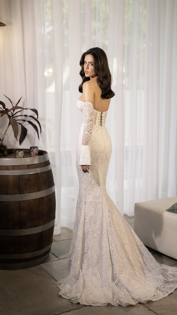 חנין קוטור - עיצוב שמלת כלה