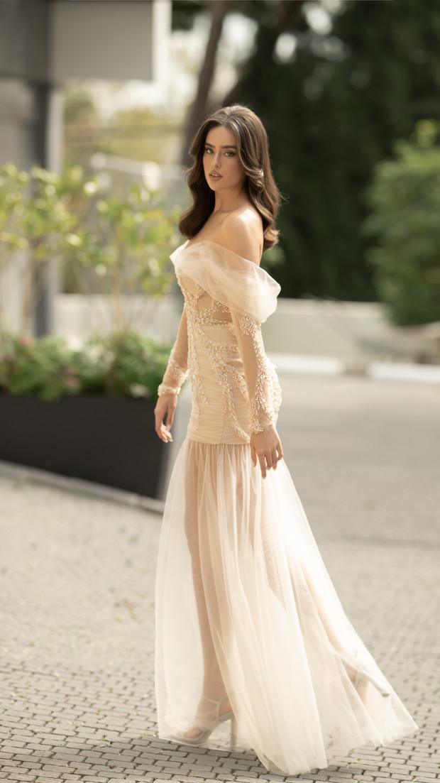 שמלת ערב או כלה ליום הראשון חנין קוטור
