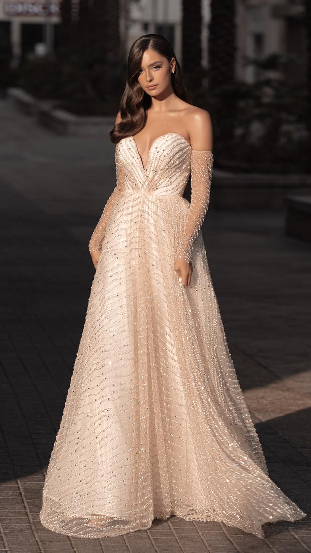 שמלת ערב זהב חנין קוטור