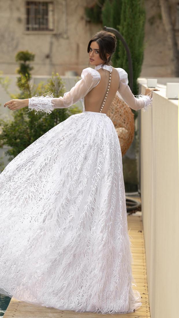 חנין קוטור שמלת כלה למידות גדולות