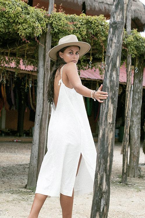 V-Back Long Dress