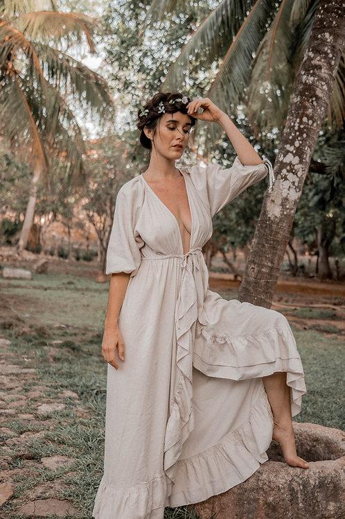 Wavy Linen Dress