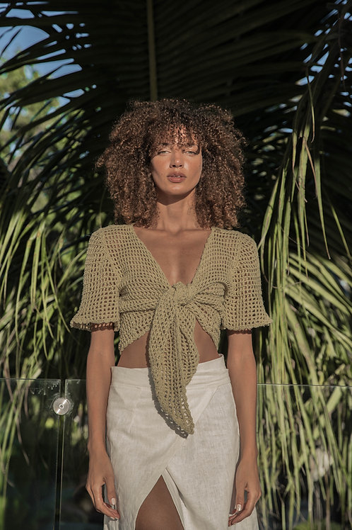 Hand-Crocheted Tie Top