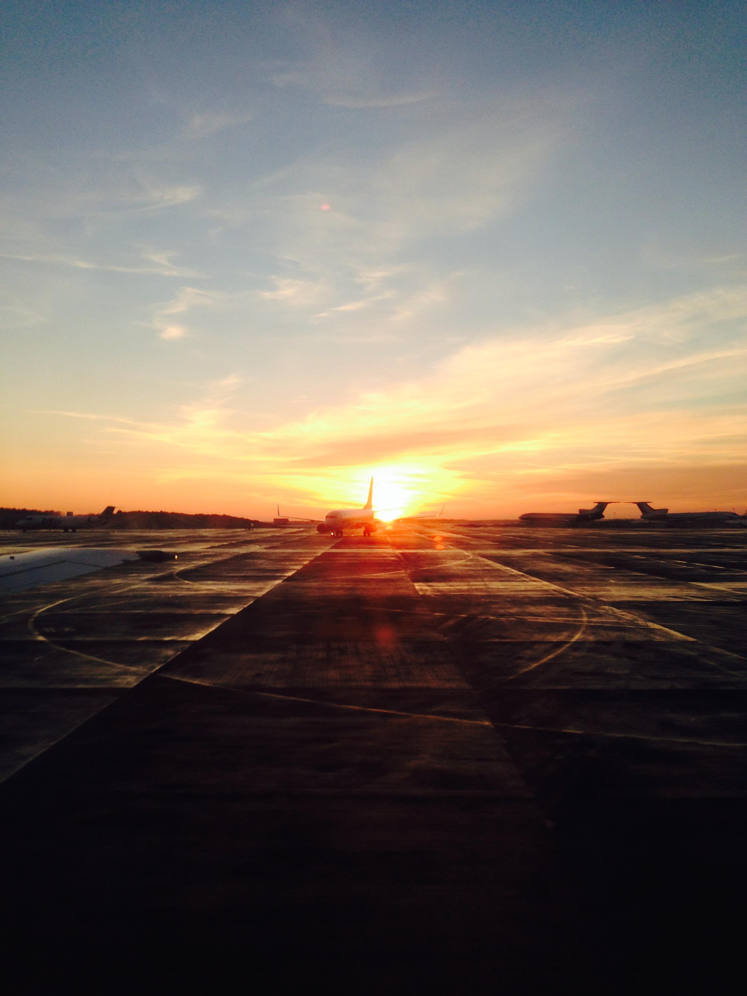Закат в аэропорту Симферополя
