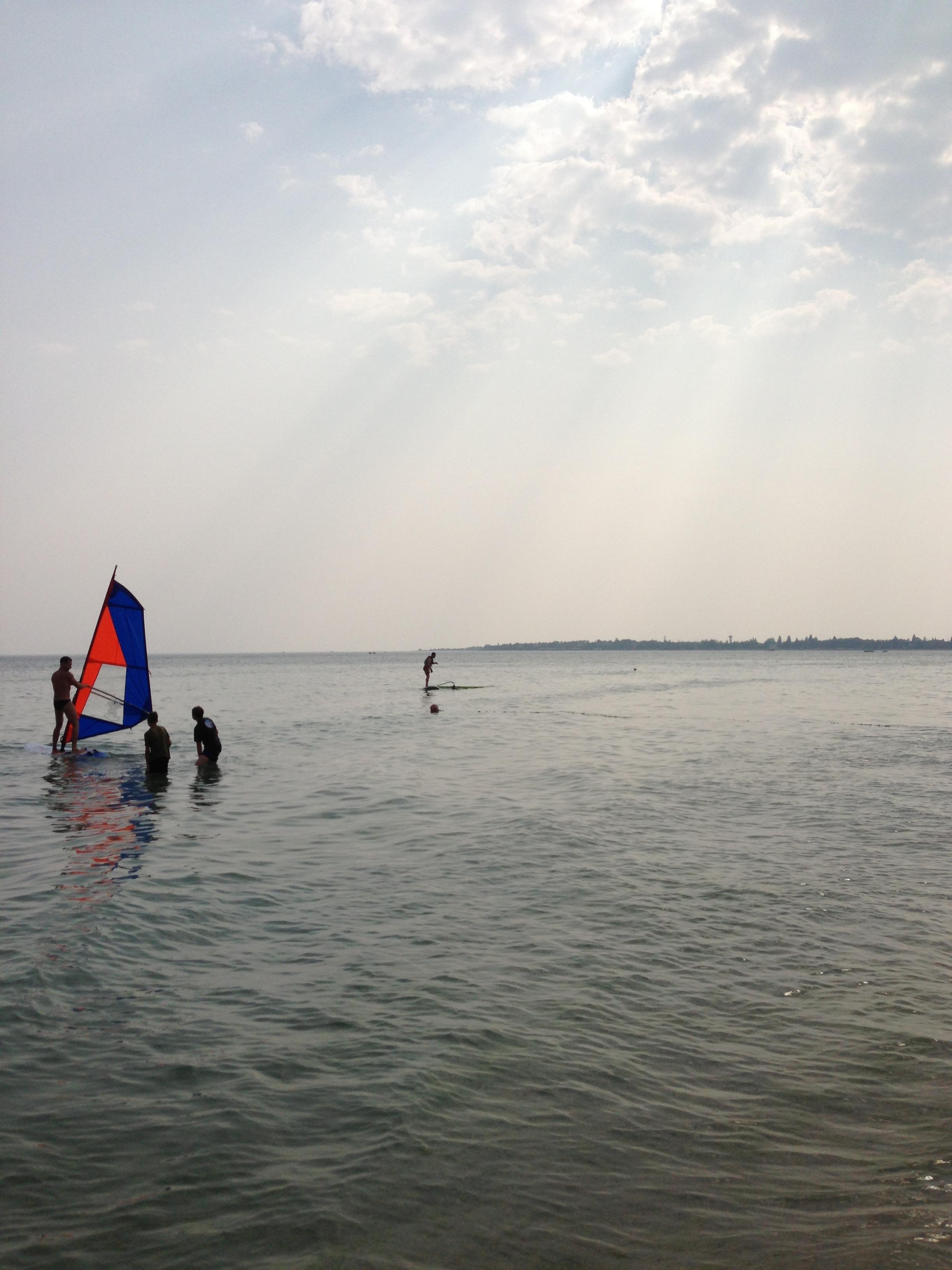 Виндсерфинг на пляжах Евпатории