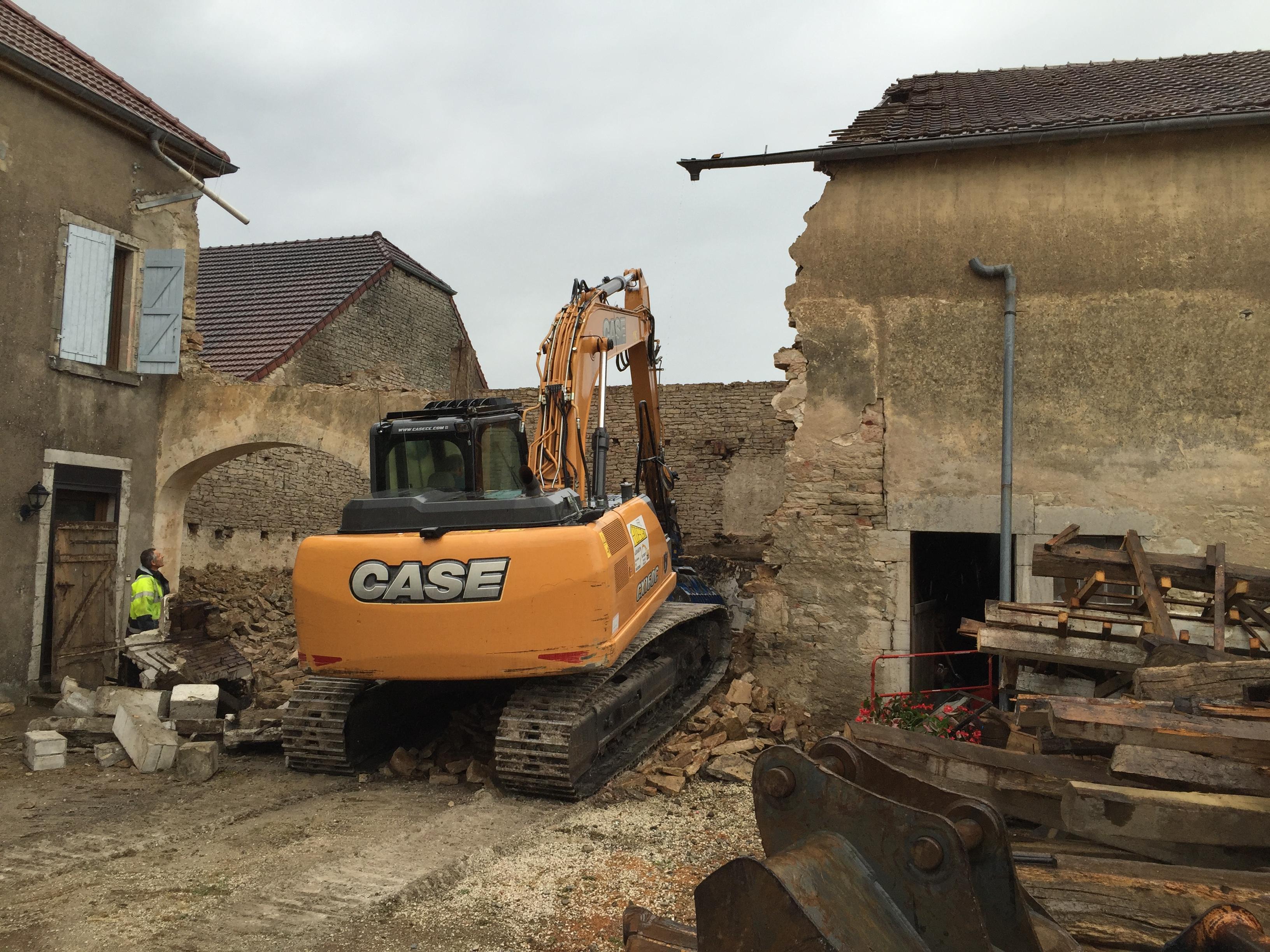 Démolition bâtiment ancien