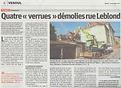 Démolition rue Leblond centre vesoul