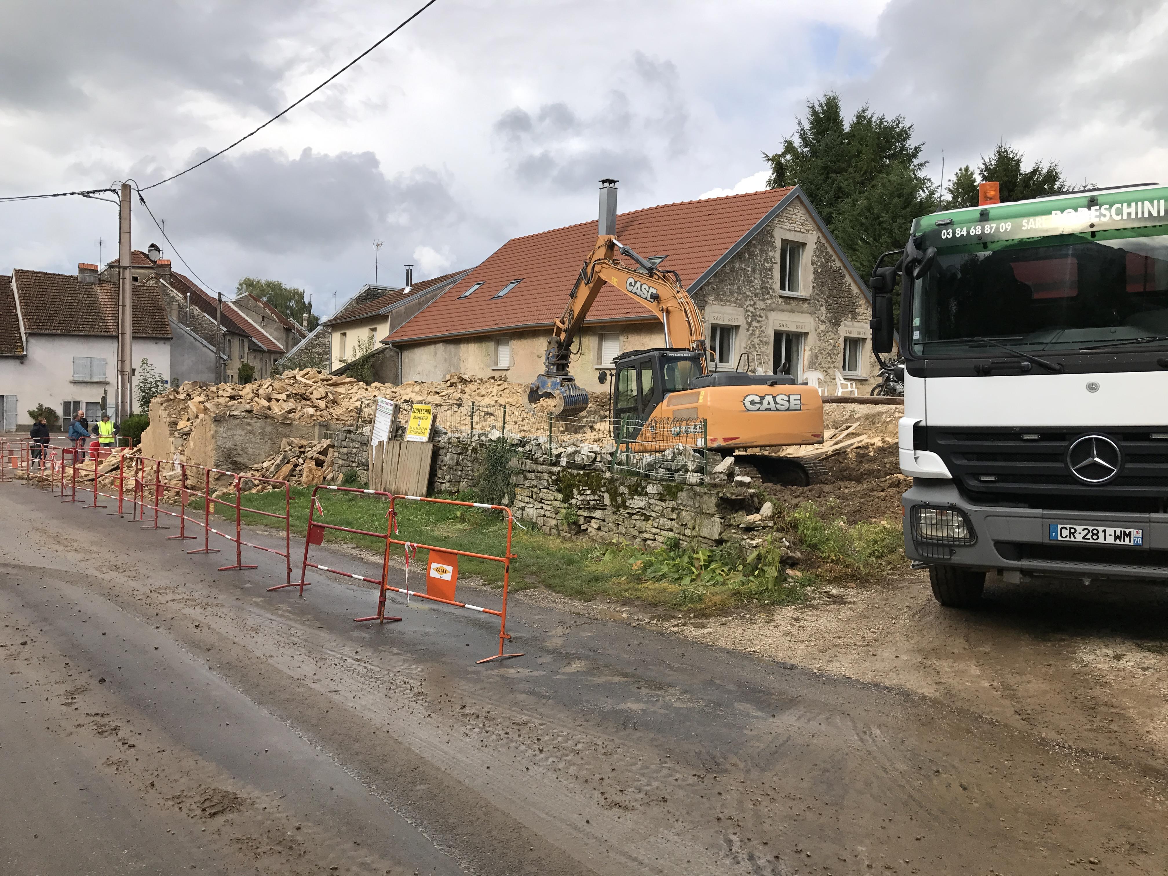 démolition de maison pierre