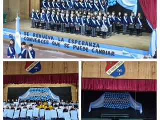 Los alumnos de 4° grado realizaron la Promesa a la Bandera
