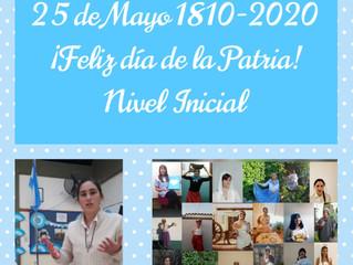 Festejo del 25 de Mayo: Nivel Inicial