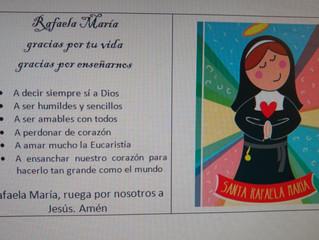 18 de Mayo Día de Santa Rafaela María