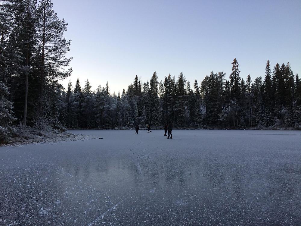 Fina isar utanför Östersund.