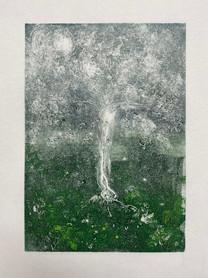 Tree monoprint 2